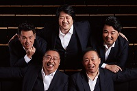 <p><strong>IL DEVU<br /> KAWAHARA Tadayuki,</strong><span></span>Conductor & Piano<br /> <strong>MOCHIZUKI Tetsuya & OTSUKI Takashi,</strong><span></span>Tenor<br /> <strong>AOYAMA Takashi,</strong><span></span>Baritone<br /> <strong>YAMASHITA Koji,</strong><span></span>Bass-Baritone</p>